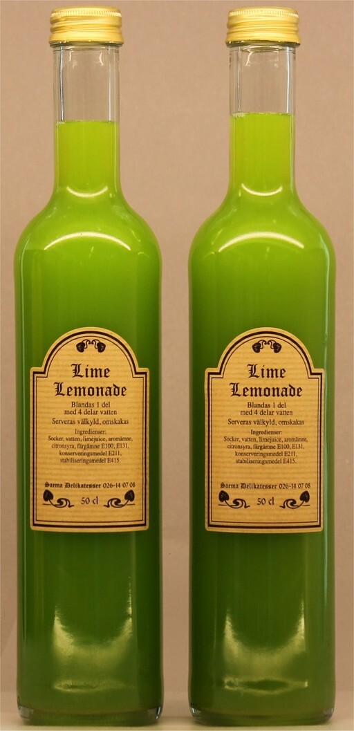 Lime Lemonad koncentrat 50cl 1x6st